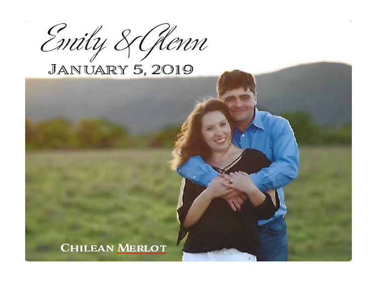 custom made wine with photo label for wedding thank you favor