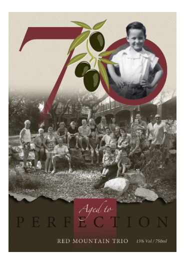 custom wine label for birthday with family celebration for small batch wine