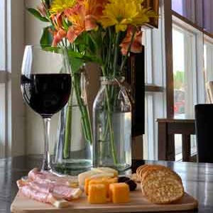 wine cheese cracker tray nibbles