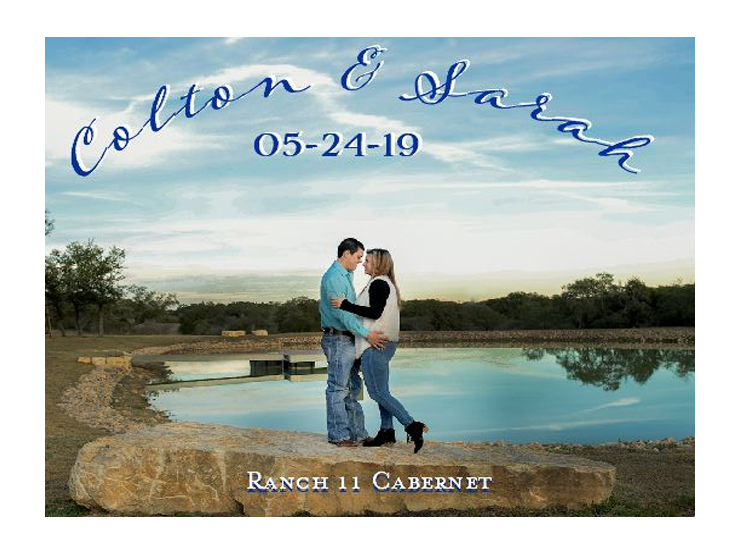 custom wine label of couple hugging on beach for wine thank you gift